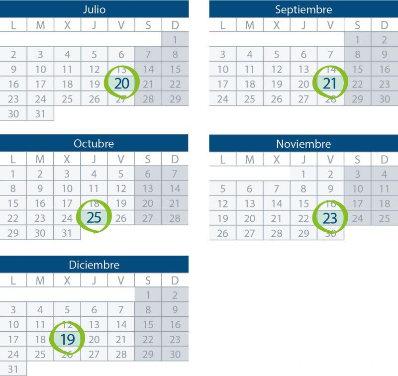 Próximas convocatorias de Examen DPD