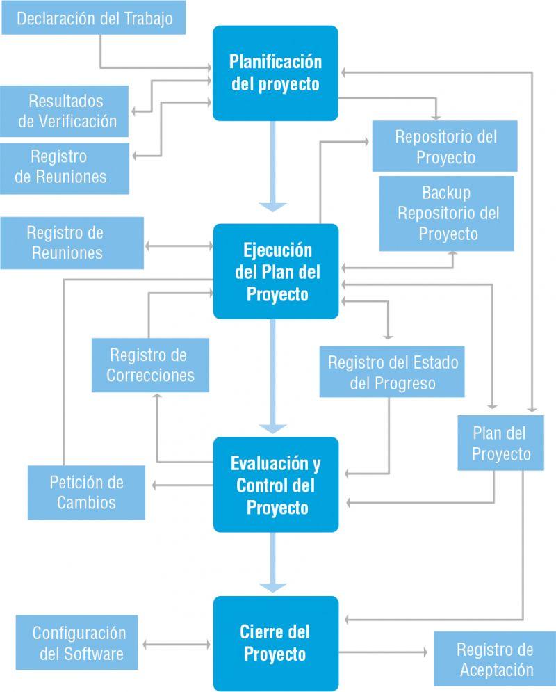 Figura 2. Proceso de gestión de proyectos